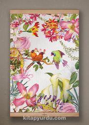 Full Frame Kanvas Poster - Tropik Kuşlar - KAYIN (FFK-BC09)