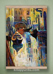Full Frame Kanvas Poster - Venedik Kanalı - MEŞE (FFM-UK06)