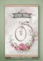 Full Frame Kanvas Poster - Retro Times - MEŞE (FFM-RET02)