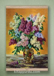 Full Frame Kanvas Poster - Leylaklar Vazosu Meşe (FFM-NT02)