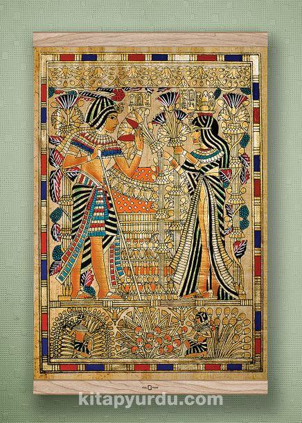Full Frame Kanvas Poster - Tutankamon Sunuş - MEŞE (FFM-MS02)