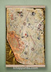 Full Frame Kanvas Poster - Piri Reis Haritası Meşe (FFM-HR02)