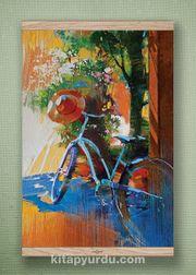 Full Frame Kanvas Poster - Mavi Bisiklet - Fransa Meşe (FFM-SK02)