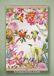 Full Frame Kanvas Poster - Tropik Kuşlar - MEŞE (FFM-BC10)