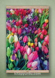 Full Frame Kanvas Poster - Laleler Meşe (FFM-BC02)
