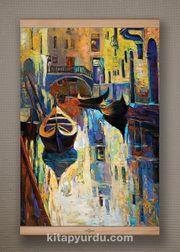 Full Frame Kanvas Poster - Venedik Kanalı - KAYIN (FFK-UK05)