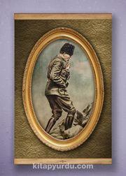 Full Frame Kanvas Poster - Atatürk Kocatepe'de 1922 Sapelli (FFS-TR03)