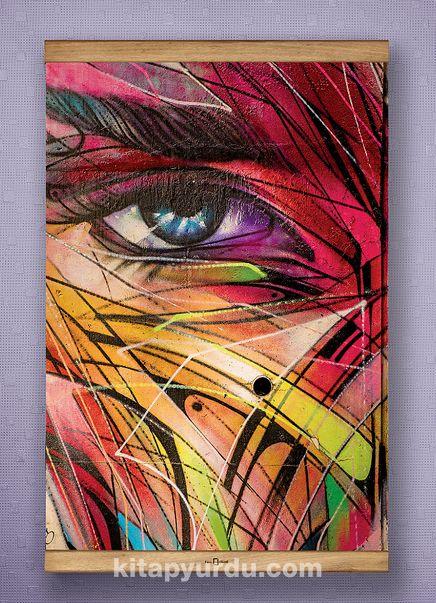 Full Frame Kanvas Poster - Renkli Yüz - SAPELLI (FFS-KJ03)
