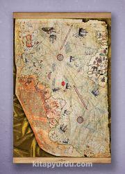 Full Frame Kanvas Poster - Piri Reis Haritası - SAPELLI (FFS-HR03)