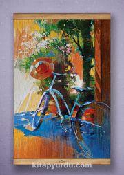 Full Frame Kanvas Poster - Mavi Bisiklet - Fransa - SAPELLI (FFS-SK03)