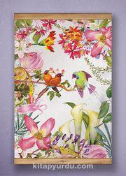 Full Frame Kanvas Poster - Tropik Kuşlar Sapelli (FFS-BC11)