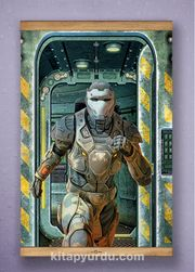 Full Frame Kanvas Poster - Koşan Fütüristik Asker Sapelli (FFS-BK03)