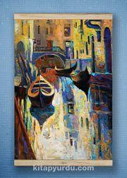 Full Frame Kanvas Poster - Venedik Kanalı White Frake (FFW-UK08)