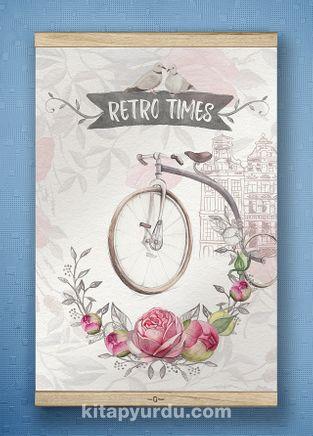 Full Frame Kanvas Poster - Retro Times - WHITE FRAKE (FFW-RET04)