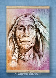 Full Frame Kanvas Poster - Yaşlı Kızılderili White Frake (FFW-PT04)