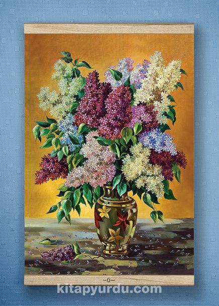Full Frame Kanvas Poster - Leylaklar Vazosu - WHITE FRAKE (FFW-NT04)