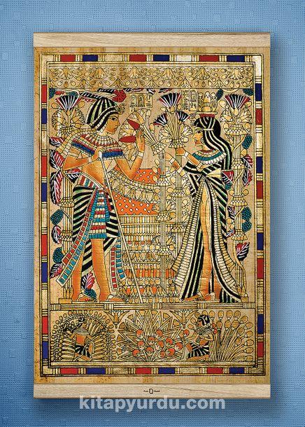 Full Frame Kanvas Poster - Tutankamon Sunuş-WHITE FRAKE (FFW-MS04)