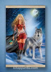 Full Frame Kanvas Poster - Kurtların Kraliçesi White Frake (FFW-MF04)