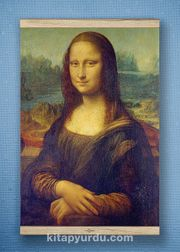 Full Frame Kanvas Poster - Mona Lisa / Leonardo da Vinci  White Frake (FFW-KR04)