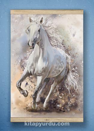 Full Frame Kanvas Poster - Kırat İllustrasyon - WHITE FRAKE (FFW-HV04)
