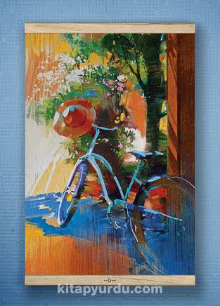 Full Frame Kanvas Poster - Mavi Bisiklet  Fransa - WHITE FRAKE (FFW-SK04)