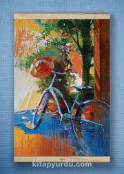 Full Frame Kanvas Poster - Mavi Bisiklet - Fransa White Frake (FFW-SK04)