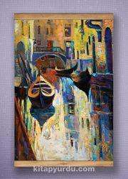Full Frame Kanvas Poster - Venedik Kanalı Sapelli (FFS-UK07)