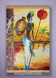 Full Frame Kanvas Poster - Testili Afrikalı Kadın Zaire - SAPELLI (FFS-UK03)