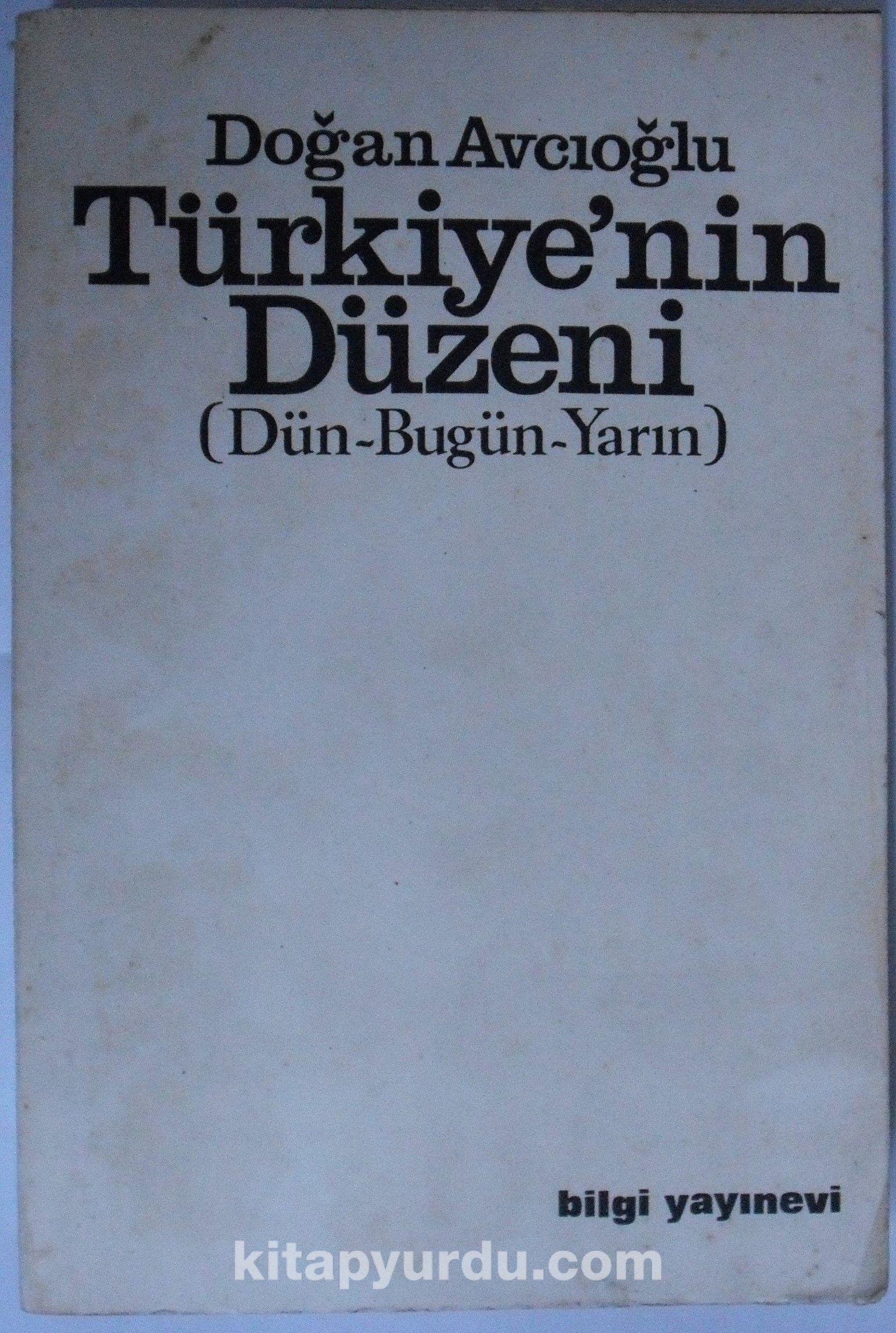 Türkiyenin Düzeni Kod: 7-I-29 - Doğan Avcıoğlu pdf epub