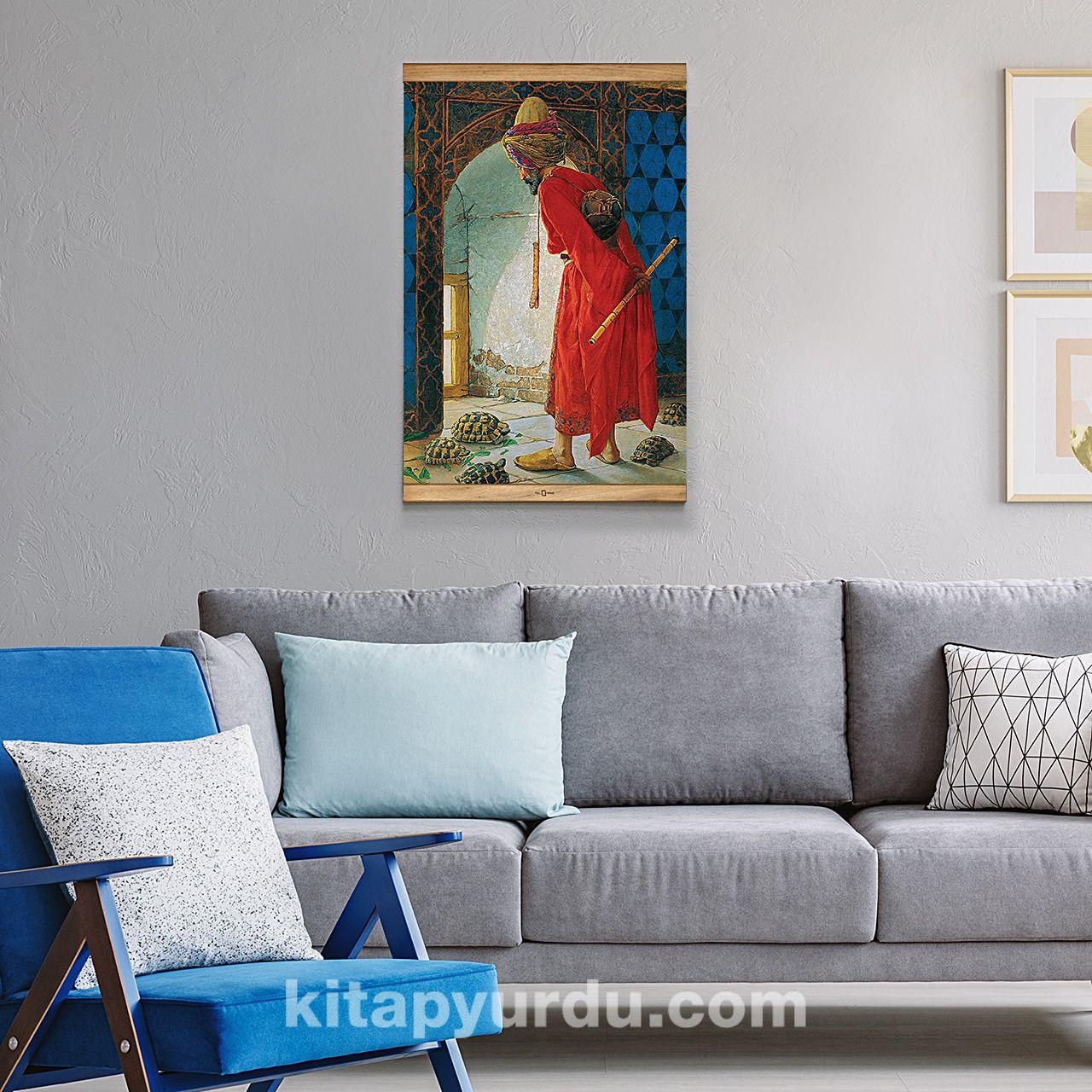 Full Frame Kanvas Poster Kaplumbaga Terbiyecisi Sapelli Ffs