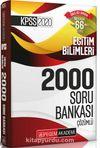 2020 KPSS Eğitim Bilimleri Çözümlü Efsane 2000 Soru Bankası