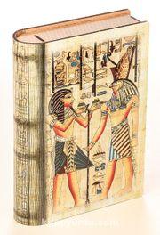 Kitap Şeklinde Mıknatıslı Ahşap Akordeon Kutu - Mısır Papirus Sunuş