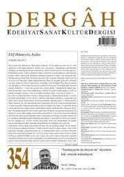 Dergah Edebiyat Sanat Kültür Dergisi Sayı:354 Ağustos 2019