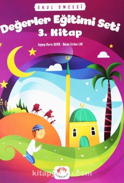 Değerler Eğitimi Seti 3. Kitap Stickerli (5 Yaş ve Üzeri) - Nuran Ferhan Can pdf epub