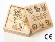 Montessori Ahşap Zeka Oyunları / w-Puzzle Cube