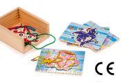 Montessori Ahşap Zeka Oyunları / w-Lace Animal