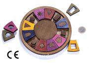 Montessori Ahşap Zeka Oyunları / w-Symbol 18 (XXL)