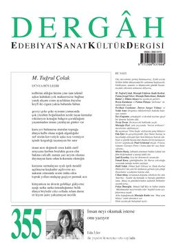 Dergah Edebiyat Sanat Kültür Dergisi Sayı:355 Eylül 2019
