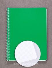 Bookinzi Okul Defteri - 80gr. 70 yaprak  A5 Spiralli Mavi Kareli Defter