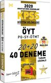 2020 KPSS Eğitim Bilimleri ÖYT-PG-SY-ÖTMT Tamamı Çözümlü 40 Deneme