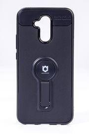 Telefon Kılıfı - Huawei Mate 20 Lite  - Mat Siyah - Siyah Ayaklı (TMS-030)