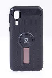 Telefon Kılıfı - Samsung Galaxy A2 Core  - Mat Siyah - Gül Kurusu Ayaklı (TMS-043)