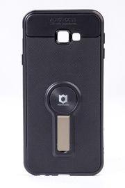 Telefon Kılıfı - Samsung Galaxy J4 Plus  - Mat Siyah - Dore Ayaklı (TMS-067)