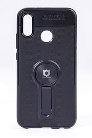 Telefon Kılıfı - Huawei P20 Lite   - Mat Siyah - Siyah Ayaklı (TMS-040)