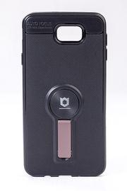 Telefon Kılıfı - Samsung Galaxy J7 Prime - Mat Siyah - Gül Kurusu Ayaklı (TMS-078)