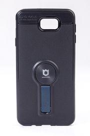 Telefon Kılıfı - Samsung Galaxy J7 Prime  - Mat Siyah - Petrol Mavisi Ayaklı (TMS-079)