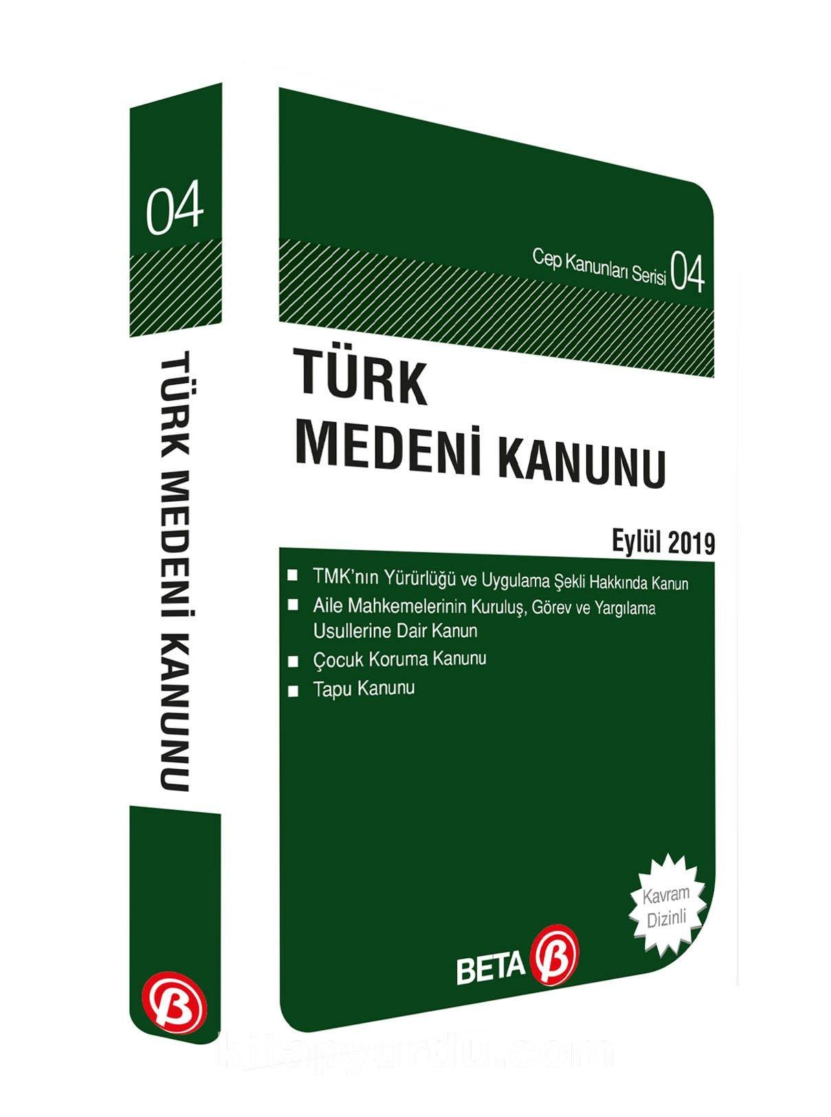 Türk Medeni Kanunu / Cep-04