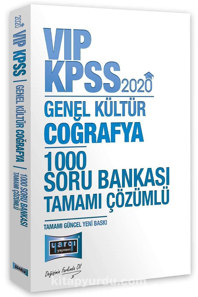 2020 KPSS VIP Coğrafya Tamamı Çözümlü 1000 Soru Bankası PDF Kitap İndir