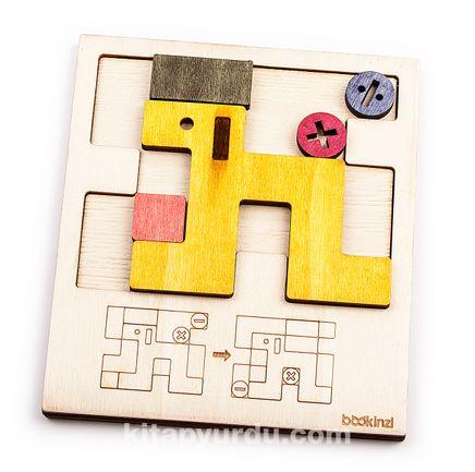 Montessori Ahşap Zeka Oyunları/ w-Sliding Dog Puzzle