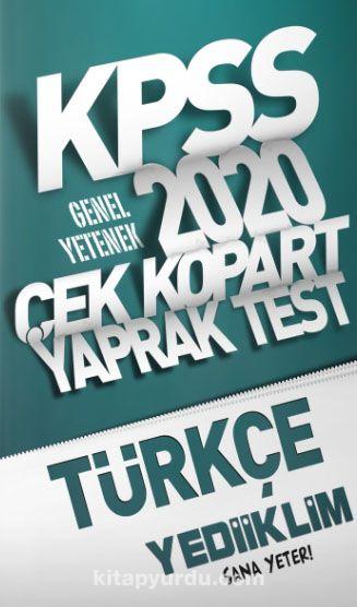2020 KPSS Genel Yetenek Türkçe Çek Kopart Yaprak Test PDF Kitap İndir